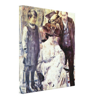 Lovis Corinth - The artist and his family Canvas Prints