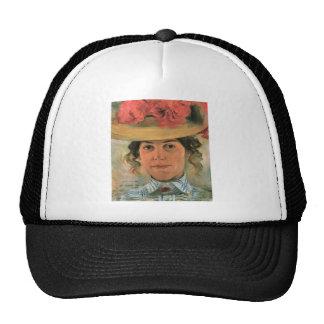 Lovis Corinth - Womens Half-portrait with straw ha Cap