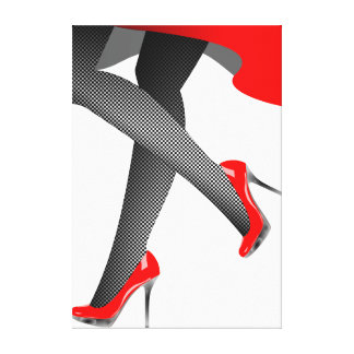 Low and High woman Canvas Print