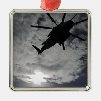 Low angle view of a CH-53E Metal Ornament