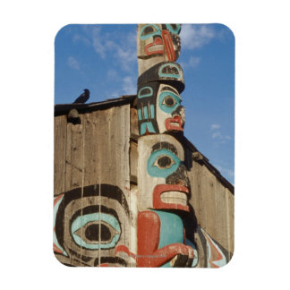 Low angle view of a Totem Pole, Haines, Alaska, Magnet
