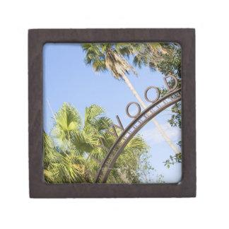 Low angle view of an entrance gate premium keepsake box