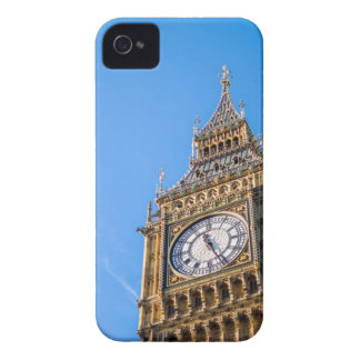 Low Angle View of Clock Tower Against Blue Sky iPhone 4 Case-Mate Case