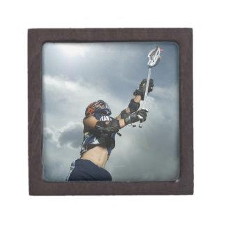 Low angle view of jai-alai player premium trinket boxes
