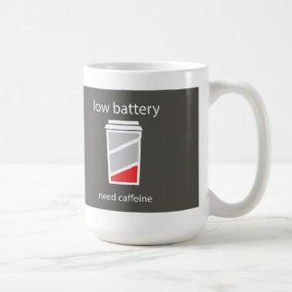 Low Battery Need Caffeine Mug