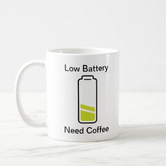 Low Battery Need Coffee Coffee Mug