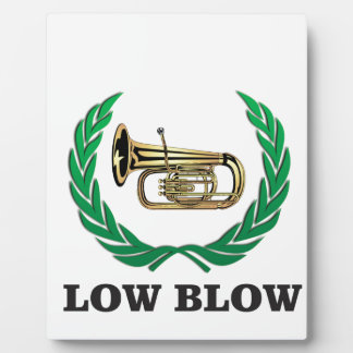 low blow tuba display plaques