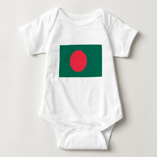 Low Cost! Bangladesh Flag Baby Bodysuit