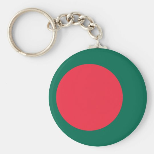 Low Cost! Bangladesh Flag Basic Round Button Key Ring