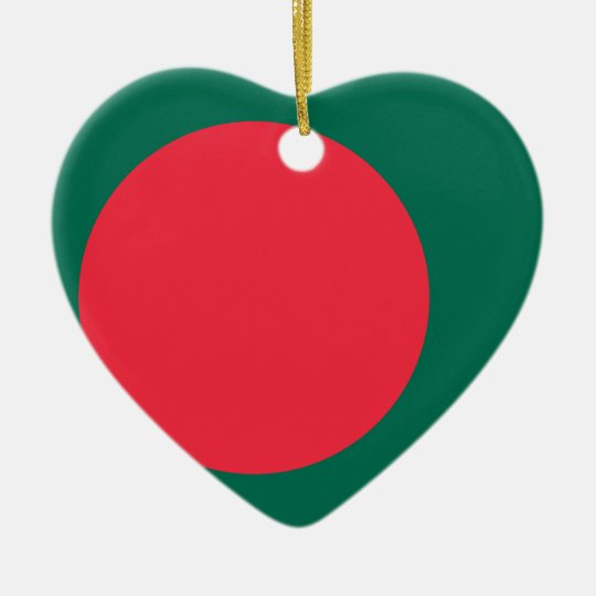 Low Cost! Bangladesh Flag Ceramic Heart Decoration