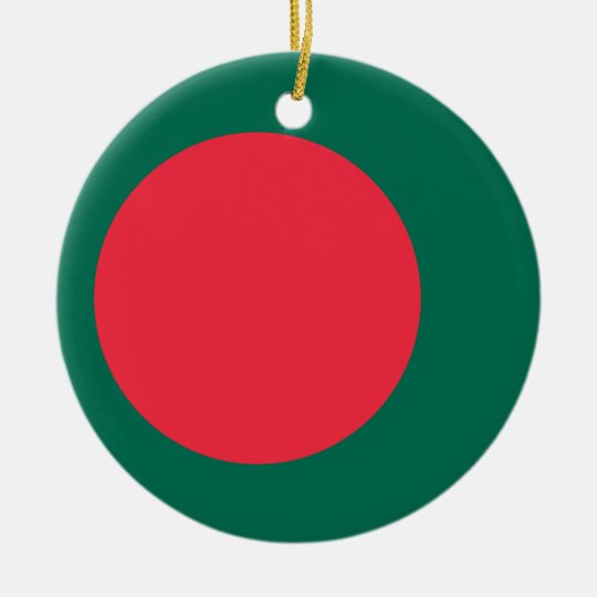 Low Cost! Bangladesh Flag Ceramic Ornament