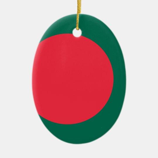 Low Cost! Bangladesh Flag Ceramic Oval Decoration