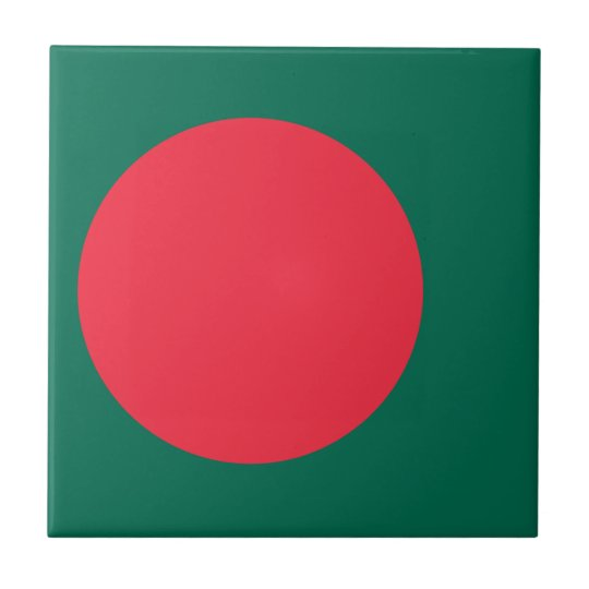 Low Cost! Bangladesh Flag Ceramic Tile