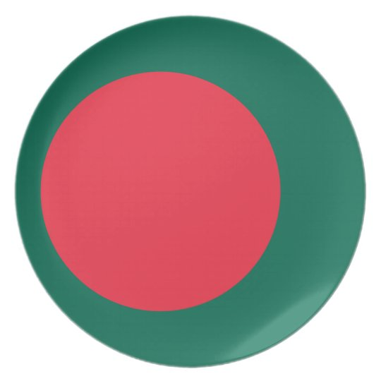 Low Cost! Bangladesh Flag Dinner Plate