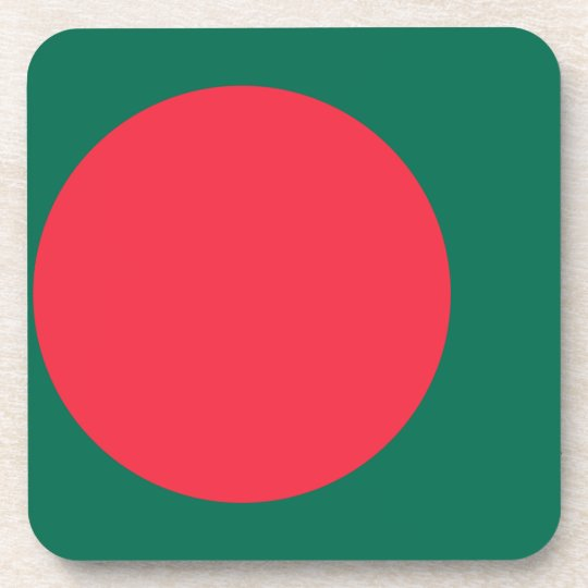 Low Cost! Bangladesh Flag Drink Coaster