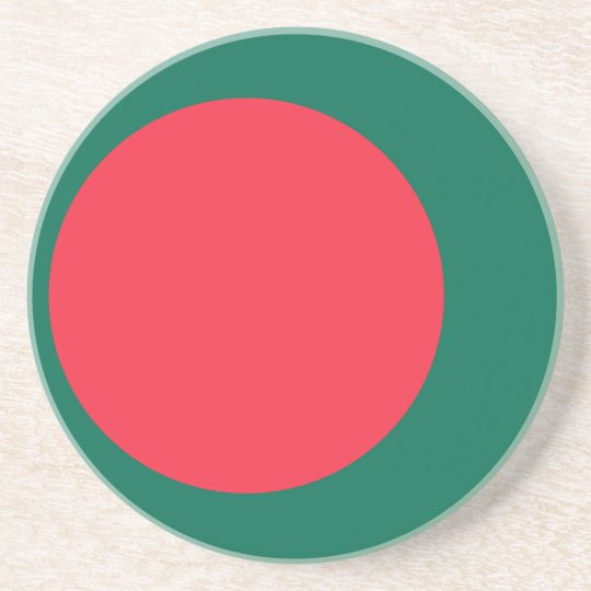 Low Cost! Bangladesh Flag Drink Coasters