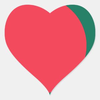 Low Cost! Bangladesh Flag Heart Sticker
