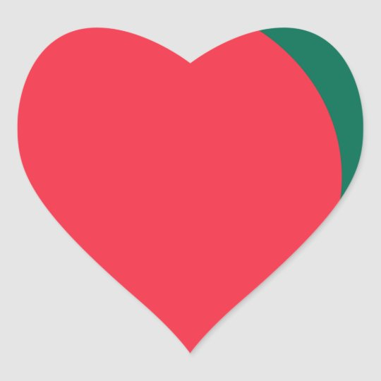 Low Cost! Bangladesh Flag Heart Sticker