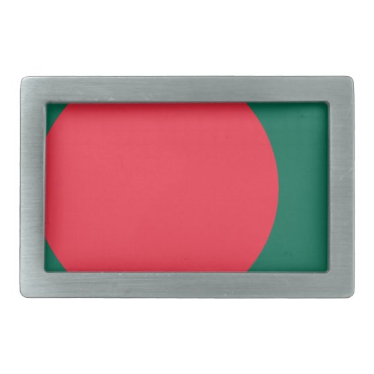 Low Cost! Bangladesh Flag Rectangular Belt Buckles