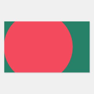 Low Cost! Bangladesh Flag Rectangular Sticker