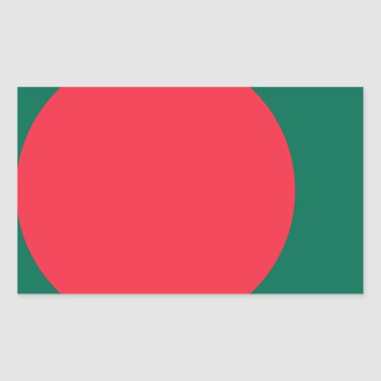 Low Cost! Bangladesh Flag Rectangular Sticker