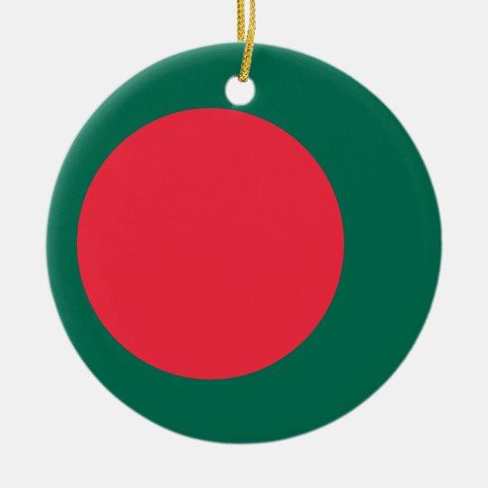 Low Cost! Bangladesh Flag Round Ceramic Decoration