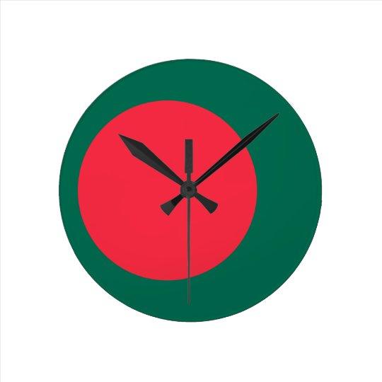 Low Cost! Bangladesh Flag Round Clock