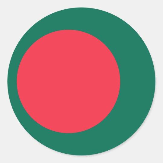 Low Cost! Bangladesh Flag Round Sticker