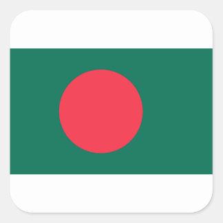 Low Cost! Bangladesh Flag Square Sticker