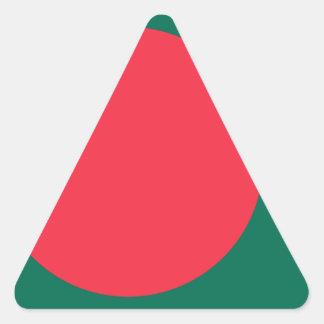 Low Cost! Bangladesh Flag Triangle Sticker