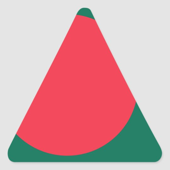 Low Cost! Bangladesh Flag Triangle Sticker