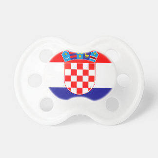 Low Cost! Croatian Flag Baby Pacifier
