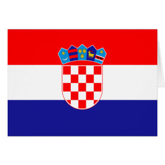 Low Cost! Croatian Flag Card