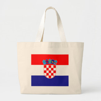 Low Cost! Croatian Flag Large Tote Bag