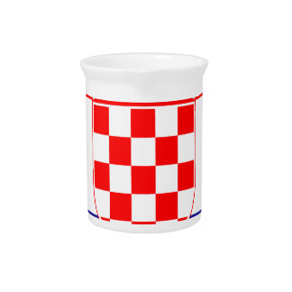 Low Cost! Croatian Flag Pitcher