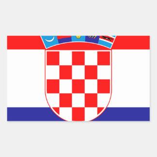 Low Cost! Croatian Flag Rectangular Sticker