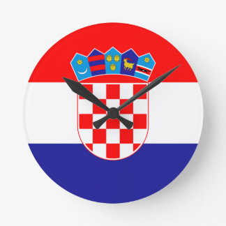 Low Cost! Croatian Flag Round Clock