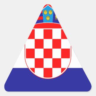 Low Cost! Croatian Flag Triangle Sticker