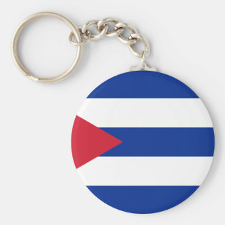 Low Cost! Cuba Flag Basic Round Button Key Ring