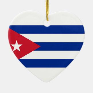 Low Cost! Cuba Flag Ceramic Ornament