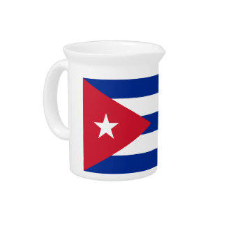 Low Cost! Cuba Flag Pitcher