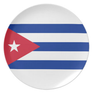Low Cost! Cuba Flag Plate