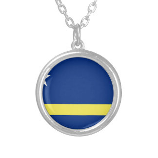 Low Cost! Curacao Flag Silver Plated Necklace