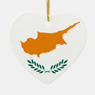 Low Cost! Cyprus Flag Ceramic Ornament