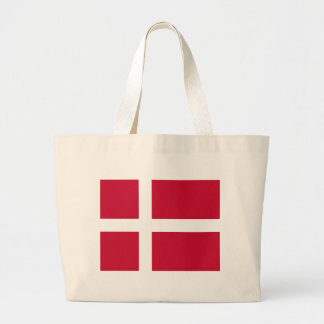 Low Cost! Denmark Flag Large Tote Bag
