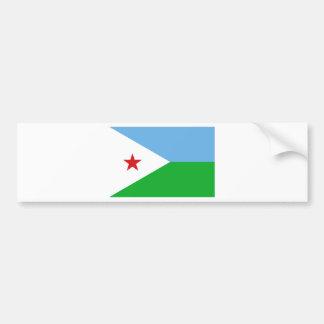 Low Cost! Djibouti Flag Bumper Sticker