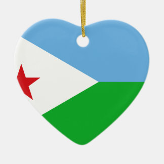 Low Cost! Djibouti Flag Ceramic Heart Decoration