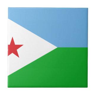 Low Cost! Djibouti Flag Ceramic Tile