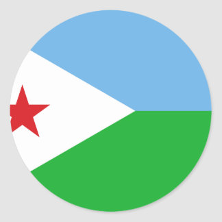 Low Cost! Djibouti Flag Classic Round Sticker