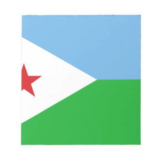 Low Cost! Djibouti Flag Notepad